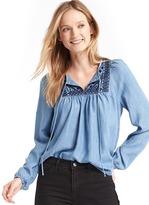 Gap Tencel® indigo blouse