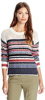 Sanctuary Women's Racer Stripe Slub Pullover Sweater