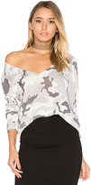Central Park West Kiawah V Neck Sweater in White. - size XS (also in )