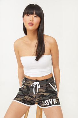 Ardene Super Soft Camo print Love Shorts