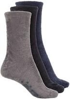 Muk Luks Aloe Fuzzy Socks - 3-Pack, Crew (For Women)