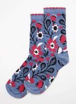 Dorothy Perkins Multi Coloured Large Poppy Socks