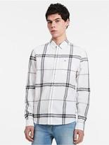 Calvin Klein Jeans Slim Fit Linen Blend Check Shirt