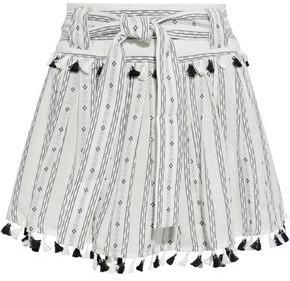 Dodo Bar Or Inga Tasseled Pleated Cotton-jacquard Mini Skirt
