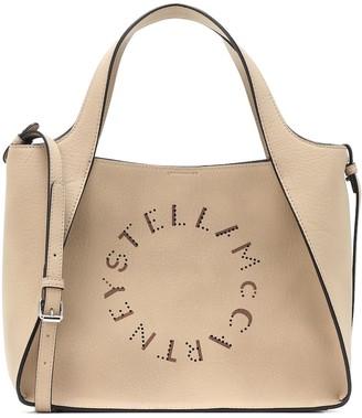 Stella McCartney Stella Logo Small faux suede tote