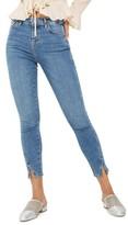 Topshop Women's Jamie Twist Hem Skinny Jeans