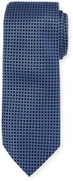 Neiman Marcus Boxed Grid Silk Tie, Blue