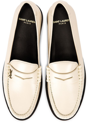 Saint Laurent Le Loafer Moccassins in Pearl | FWRD