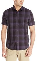 Calvin Klein Men's Medium Plaid Multi Check Short Sleeve Woven Shirt