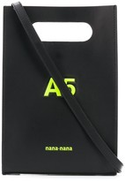 Nana Nana A5 logo embossed top handle mini bag