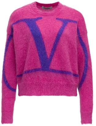 Valentino Mohair Sweater With Logo