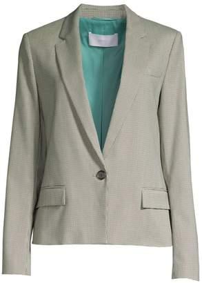 BOSS Jasaela Wool-Blend One-Button Houndstooth Jacket