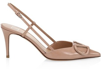Valentino VLogo Leather Slingback Pumps