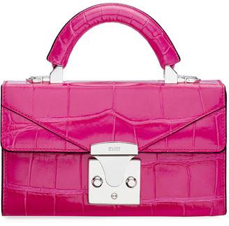 Stalvey Mini Crocodile Top Handle Bag, Pink