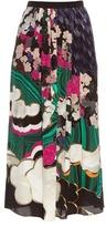 Mary Katrantzou Santhus Jewel Cloud-print silk skirt