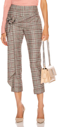 Hellessy Pierre Pant in Charcoal & Red | FWRD