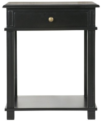 Sasson Home Manto Bedside Table Black