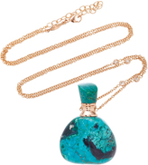 Jacquie Aiche Medium Triangle Turquoise Potion Bottle Necklace