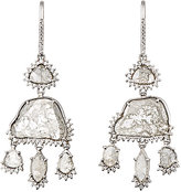 Sharon Khazzam Women's Grey & White Diamond Triple-Drop Earrings