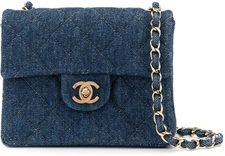 Chanel Pre Owned Denim Chain Shoulder Bag