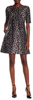 Taylor Animal Print Scuba Fit & Flare Dress