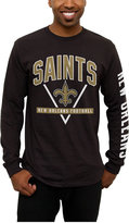 Junk Food Clothing Men's New Orleans Saints Nickel Formation Long Sleeve T-Shirt