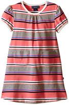 Toobydoo Short Sleeve Dress w/ Grey/Pink/Navy (Infant/Toddler)