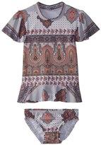 Seafolly Toddler Girl's Moroccan Paisley Rashie Set (27) - 8158924