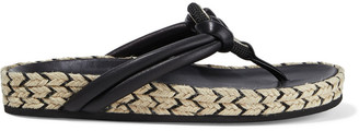 Rag & Bone Eva Embellished Leather Espadrille Sandals