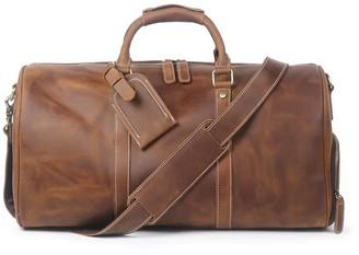 Touri Leather Boot Bag In Brown