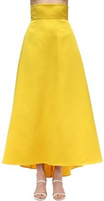 Sara Battaglia High Waist Maxi Duchesse Skirt