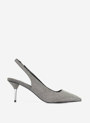 Dorothy Perkins Womens Grey Pewter 'Ellie' Court Shoes, Grey