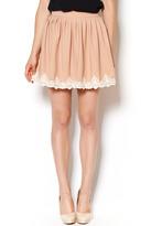BRIGITTE Bardot Lace Pleated Skirt