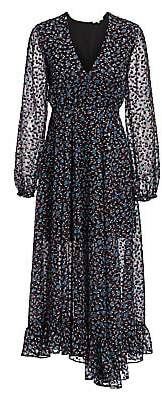 Maje Women's Revana Printed Midi Dress