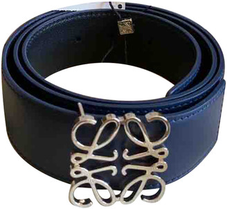 Loewe Navy Leather Belts