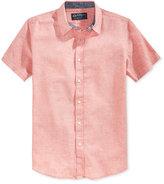American Rag Men's Short Sleeve Linen Shirt, Only at Macy's
