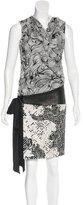 Diane von Furstenberg Capile Leather-Trimmed Dress