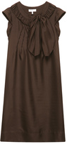 See by Chloé Brown Shift Bow Dress