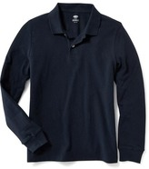 Old Navy Long-Sleeve Uniform Pique Polo for Boys