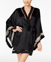 Calvin Klein Black Collection Embrace Lace-Band Kimono Robe QS5554