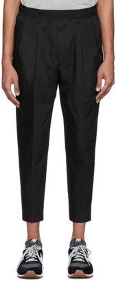 N.Hoolywood Black Tapered Easy Trousers