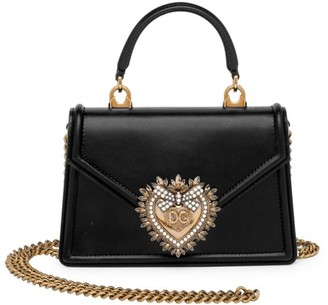 Dolce & Gabbana Devotion Leather Top Handle Bag