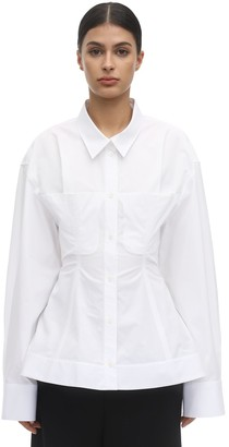 Nina Ricci Oversized Cotton Poplin Shirt