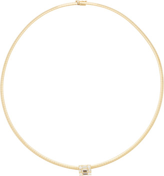 Mindi Mond Clarity Cube 18K Gold Choker Necklace