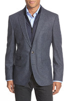 HUGO BOSS Hardin Two Button Notch Lapel Trim Fit Houndstooth Wool Blend Sport Coat
