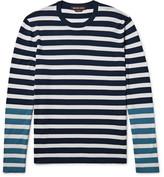 Michael Kors Colour-block Striped Merino Wool T-shirt