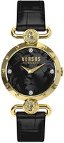 Versus By Versace Women's Sunny Ridge Black Leather Strap Watch 34mm SOL04 0015
