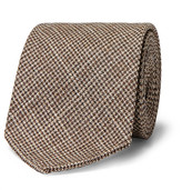 Drakes Drake's - 8cm Houndstooth Wool and Silk-Blend Tie