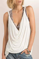 POL Draped Neckline Top