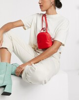 Asos Design DESIGN mini multi way backpack in red
